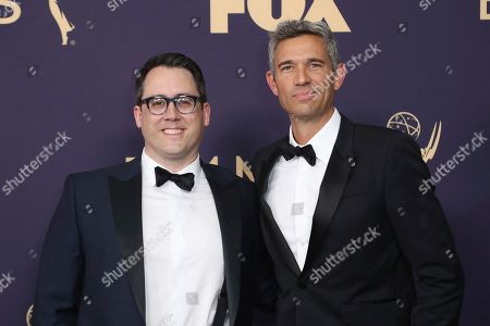 Joe Farrell, Mike Farah. Joe Farrell, left, and Mike Farah arrive at the 71st Primetime Emmy Awards, at the Microsoft Theater in Los Angeles