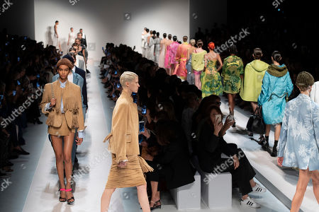 Editorial picture of Ermanno Scervino show, Runway, Spring Summer 2020, Milan Fashion Week, Italy - 21 Sep 2019