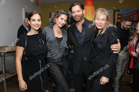 Charlotte Connick, Sarah Connick, Harry Connick Jr and Renee Zellweger