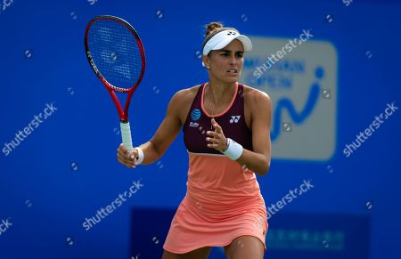 Monica Puig of Puerto Rico in action during her second-round match