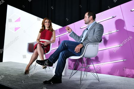 Julia Boorstin (Entertainment & Media Correspondent, CNBC) and Dustin Cohn (Head of Brand & Marketing of the Consumer Investment Management Division, Goldman Sachs)