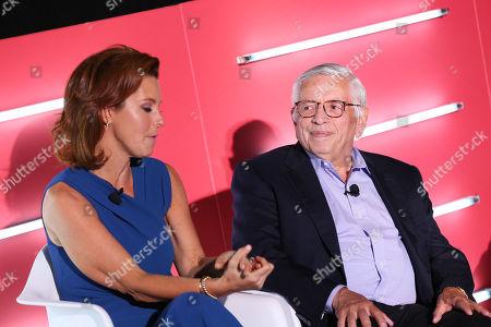 Stephanie Ruhle (Anchor, MSNBC & Correspondent, NBC News, MSNBC & NBC News) and David Stern (Commissioner Emeritus, NBA)