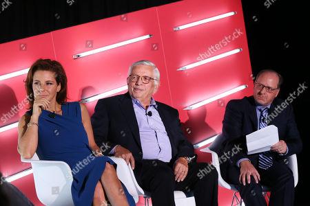 Stephanie Ruhle (Anchor, MSNBC & Correspondent, NBC News, MSNBC & NBC News), David Stern (Commissioner Emeritus, NBA) and Barry Watkins (CEO, Clairvoyant Media Strategies)
