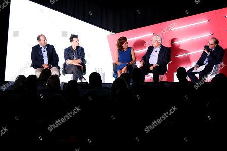 Matthew Hiltzik (President & CEO, Hiltzik Strategies), Marc Roberge (Lead Singer, O.A.R.), Stephanie Ruhle (Anchor, MSNBC & Correspondent, NBC News, MSNBC & NBC News), David Stern (Commissioner Emeritus, NBA) and Barry Watkins (CEO, Clairvoyant Media Strategies)