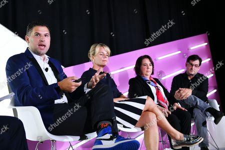 David Marine (CMO, Coldwell Banker), Drayton Martin (VP Brand Stewardship, Dunkin), Barbara Pandos (Chief Communications Office, DuPont), and Scott Weisenthal (VP Global Creative & Content Marketing, Marriott International)