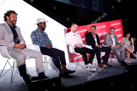 Jeff Semones (Managing Partner, Head of Social Media, MediaCom), Max Twitty (Influencer), Finian Sedgwick (Brand Manager, G.H. Mumm Champagne, Pernod Ricard), Adam Williams (CEO, Takumi), Sean Lynch (Vice President of Marketing, Jack Schwartz Shoes Inc.) and Katie Deighton (Senior Reporter, The Drum)