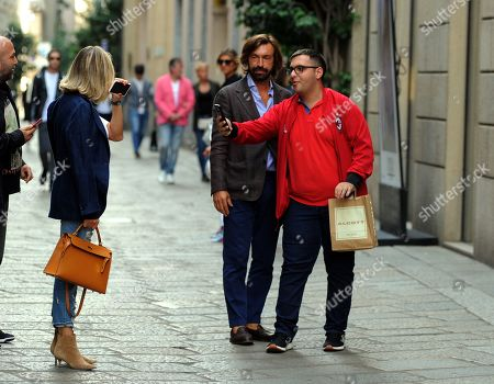 Editorial photo of Andrea Pirlo out and about, Milan, Italy - 23 Sep 2019