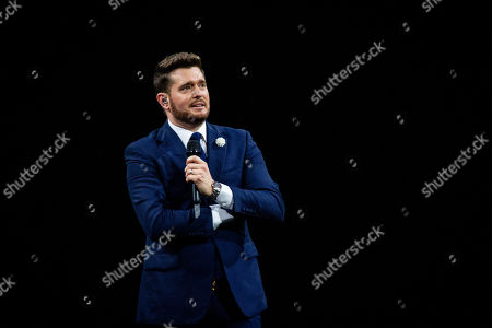 Editorial photo of Michael Buble in concert at the Mediolanum Forum, Assago, Milan, Italy - 23 Sep 2019