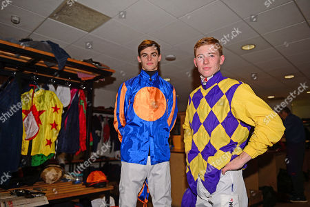 FAIRYHOUSE. Jockeys COLIN KEANE (right) and DONNACHA O'BRIEN ahead of racing are fighting out the jockeys title with Colin on 87 winners and Donnacha on 84 winners.