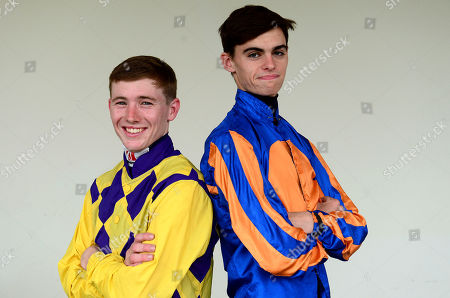 FAIRYHOUSE. Jockeys COLIN KEANE (left) and DONNACHA O'BRIEN ahead of racing are fighting out the jockeys title with Colin on 87 winners and Donnacha on 84 winners.