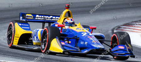 Monterey, CA, U.S.A. Andretti Autosport driver Alexander Rossi (27) coming out of turn 5 during the Firestone Grand Prix of Monterey IndyCar Championship at Weathertech Raceway Laguna Seca Monterey, CA Thurman James / CSM