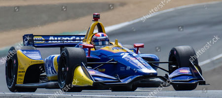 Monterey, CA, U.S.A. Andretti Autosport driver Alexander Rossi (27) coming out of turn 6 during the Firestone Grand Prix of Monterey IndyCar Championship at Weathertech Raceway Laguna Seca Monterey, CA Thurman James / CSM
