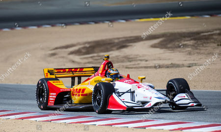 Monterey, CA, U.S.A. Andretti Autosport driver Ryan Hunter-Reay (28) coming out of turn 5 during the Firestone Grand Prix of Monterey IndyCar Championship at Weathertech Raceway Laguna Seca Monterey, CA Thurman James / CSM