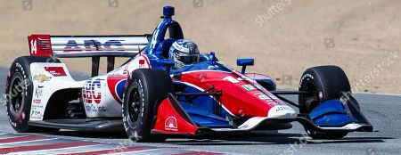 Stock Photo of Monterey, CA, U.S.A. A.J. Foyt Enterprises driver Tony Kanaan (14) coming out of turn 5 during the Firestone Grand Prix of Monterey IndyCar Championship at Weathertech Raceway Laguna Seca Monterey, CA Thurman James / CSM
