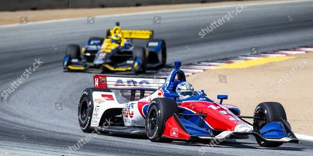 Monterey, CA, U.S.A. A.J. Foyt Enterprises driver Tony Kanaan (14) coming out of turn 5 during the Firestone Grand Prix of Monterey IndyCar Championship at Weathertech Raceway Laguna Seca Monterey, CA Thurman James / CSM