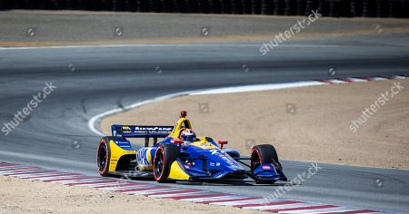 Stock Photo of Monterey, CA, U.S.A. Andretti Autosport driver Alexander Rossi (27) coming out of turn 5 during the Firestone Grand Prix of Monterey IndyCar Championship at Weathertech Raceway Laguna Seca Monterey, CA Thurman James / CSM