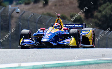 Stock Picture of Monterey, CA, U.S.A. Andretti Autosport driver Alexander Rossi (27) coming into turn 7 Rahal straight during the Firestone Grand Prix of Monterey IndyCar Championship at Weathertech Raceway Laguna Seca Monterey, CA Thurman James / CSM