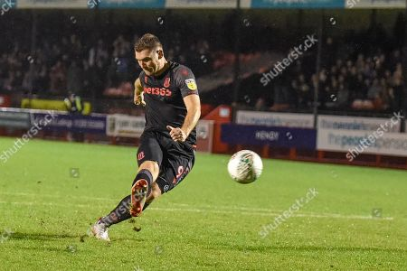 Stock Photo of Sam Vokes(09) of Stoke City missis his penalty