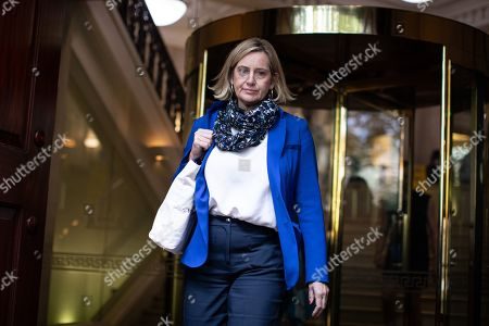 Amber Rudd MP leaves media studios in Westminster, following a historic ruling by the Supreme Court this morning that Boris Johnson's decision to suspend Parliament for five weeks was unlawful.