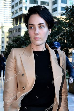 Editorial picture of Sarah Budge at court in Sydney, Australia - 24 Sep 2019