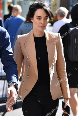 Sarah Budge arrives at the Downing Centre Local Court in Sydney, New South Wales, Australia, 24 September 2019. Sarah Budge, girlfriend of former Kings Cross nightclub owner John Ibrahim, is facing court on a firearms charge.