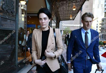 Editorial image of Sarah Budge at court in Sydney, Australia - 24 Sep 2019