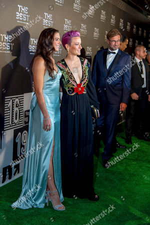 The Best FIFA Women's Player Award finalists Alex Morgan and Megan Rapinoe of United States