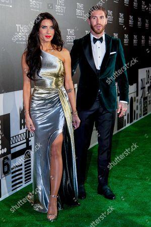 Sergio Ramos and his wife Pilar Rubio