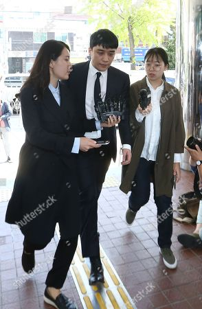 Editorial picture of K-pop superstar Seungri summoned by police in relation to gambling allegations, Seoul, Korea - 24 Sep 2019