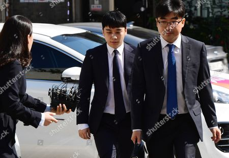 Editorial photo of K-pop superstar Seungri summoned by police in relation to gambling allegations, Seoul, Korea - 24 Sep 2019