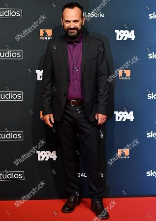 Paolo Pierobon poses for the media during the photo call for the Sky TV series '1994' in Rome, Italy, 24 September 2019.