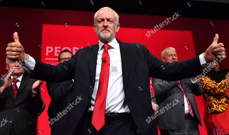 Labour Party leader Jeremy Corbyn speech during the Labour party conference