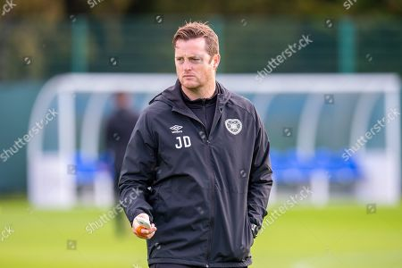 Stock Picture of Heart of Midlothian coach Jon Daly watches the players train ahead of the Betfred Cup quarter-final match against Aberdeen, at Oriam Sports Performance Centre, Heriot Watt University. Picture by Malcolm Mackenzie