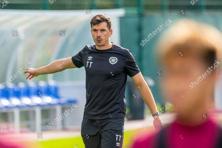 Heart of Midlothian fitness coach Tom Taylor during training at The Oriam Sports Performance Centre, Heriot Watt University, Edinburgh, ahead of the Betfred Scottish Football League Cup quarter-final match against Aberdeen. Picture by Malcolm Mackenzie