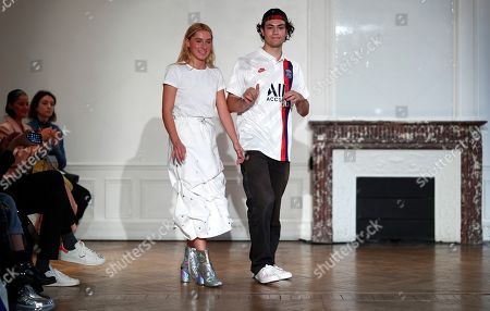 French designer Pierre Kaczmarek and Italian designer Elena Mottola sen during their Women Spring/Summer 2020 collection for Afterhomework during the Paris Fashion Week, in Paris, France, 24 September 2019. The presentation of the Women's collections runs from 23 September to 01 October.