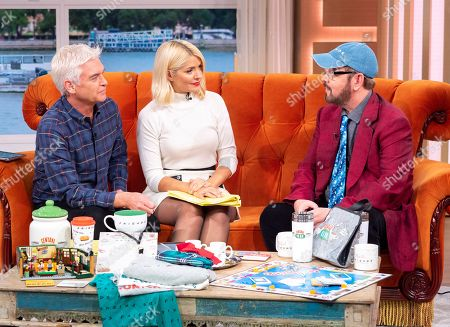 Phillip Schofield and Holly Willoughby with James Michael