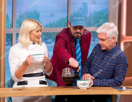 James Michael Tyler, Holly Willoughby and Phillip Schofield