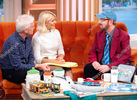 Phillip Schofield and Holly Willoughby with James Michael Tyler