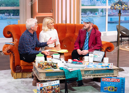 Stock Picture of Phillip Schofield and Holly Willoughby with James Michael