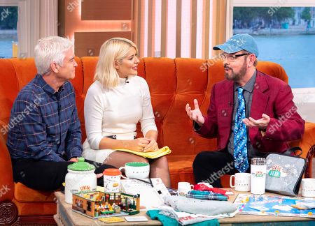 Stock Photo of Phillip Schofield and Holly Willoughby with James Michael