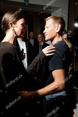 Paul Andrew and model backstage