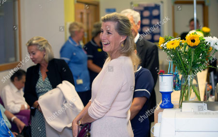 Sophie Countess of Wessex in Eliot Ward during her visit at Musgrove Park Hospital to unveil the new MRI Scanner