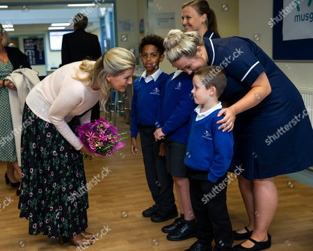 Editorial image of Sophie Countess of Wessex visit to Musgrove Park Hospital, Taunton, Somerset, UK - 24 Sep 2019