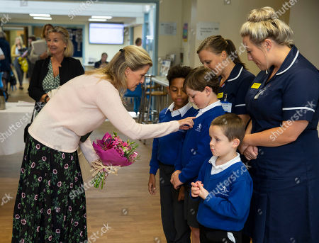 Editorial photo of Sophie Countess of Wessex visit to Musgrove Park Hospital, Taunton, Somerset, UK - 24 Sep 2019