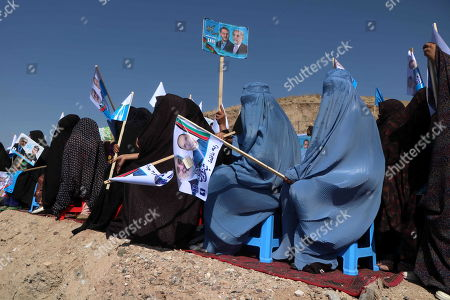Supporters of Presidential candidate Dr. Abdullah Abdullah, attend his election campaign in Herat, Afghanistan, 24 September 2019. Presidential elections in Afghanistan are scheduled for 28 September, with a total of 18 candidates, including incumbent President Mohammad Ashraf Ghani, are running for the post.