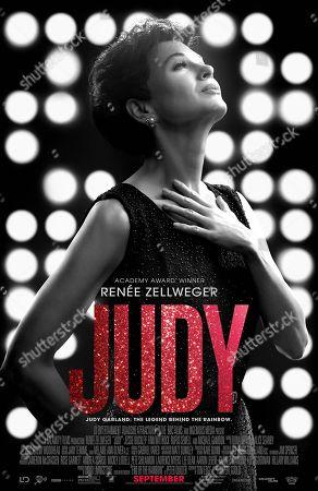 Stock Photo of Judy (2019) Poster Art. Renee Zellweger as Judy Garland