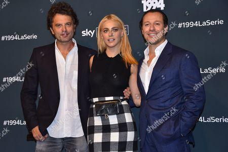 Guido Caprino, Miriam Leone and Stefano Accorsi
