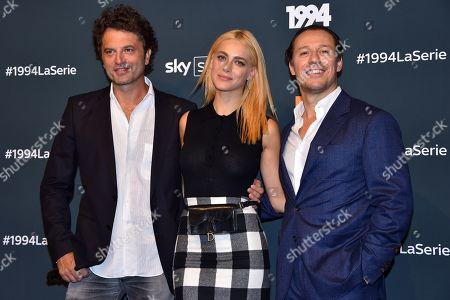 Stock Picture of Guido Caprino, Miriam Leone and Stefano Accorsi