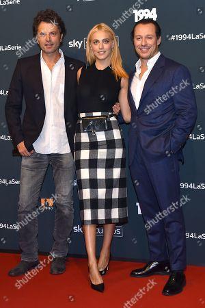 Stock Image of Guido Caprino, Miriam Leone and Stefano Accorsi