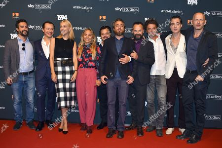 The cast - including Antonio Gerardi, Paolo Pierobon, Guido Caprino, Miriam Leone and Stefano Accorsi